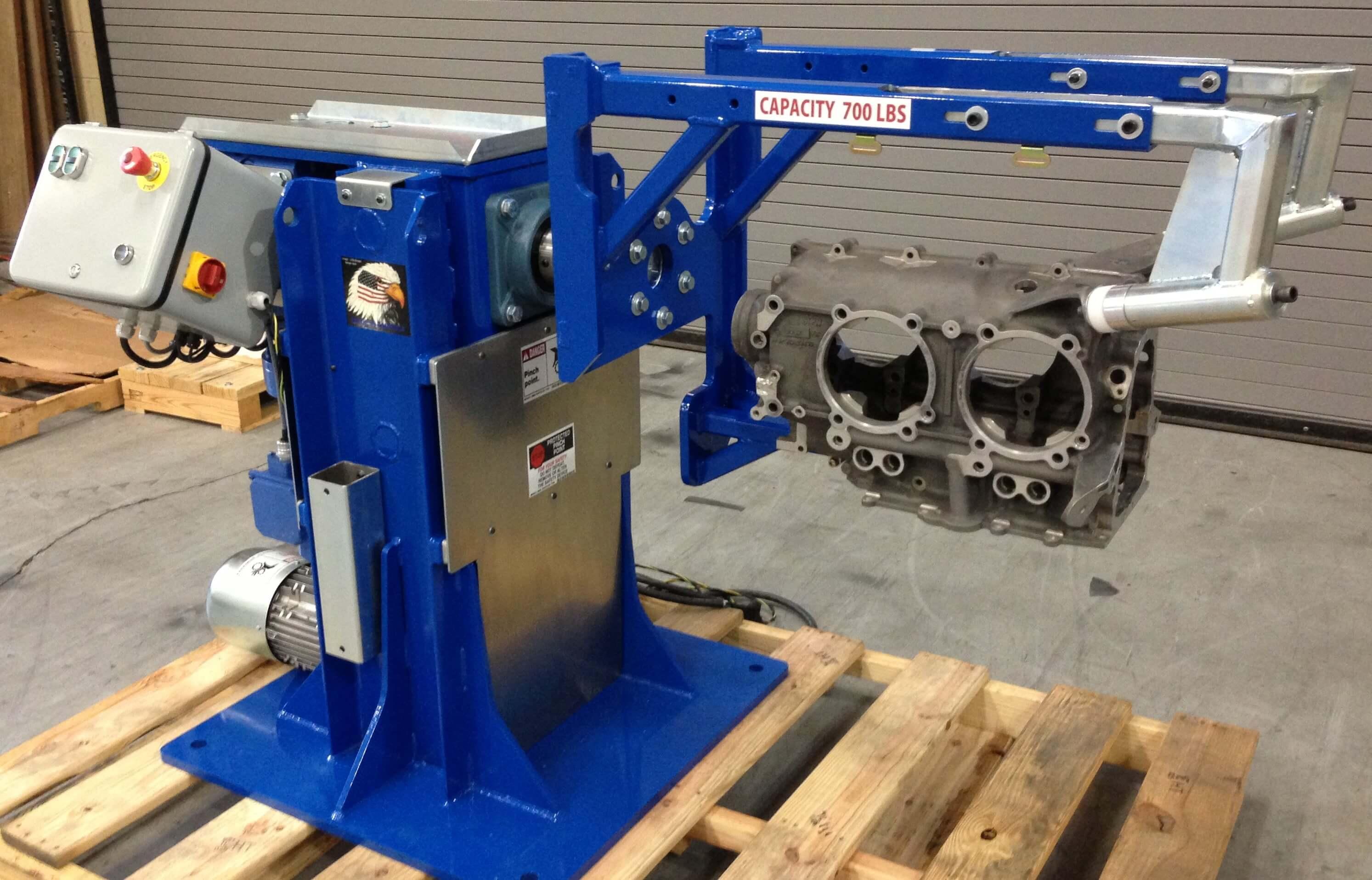 Aircraft Engine Stand being assembled
