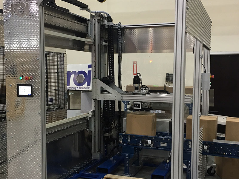 Take control of your material-handling process with a compact palletizing solution from ROI Industries